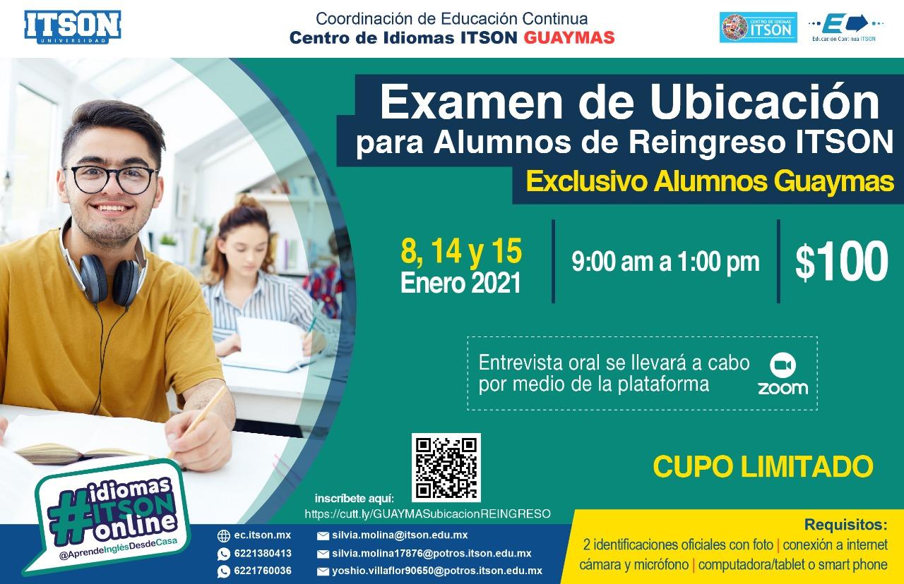 Examen de Ubicación Guaymas 2021