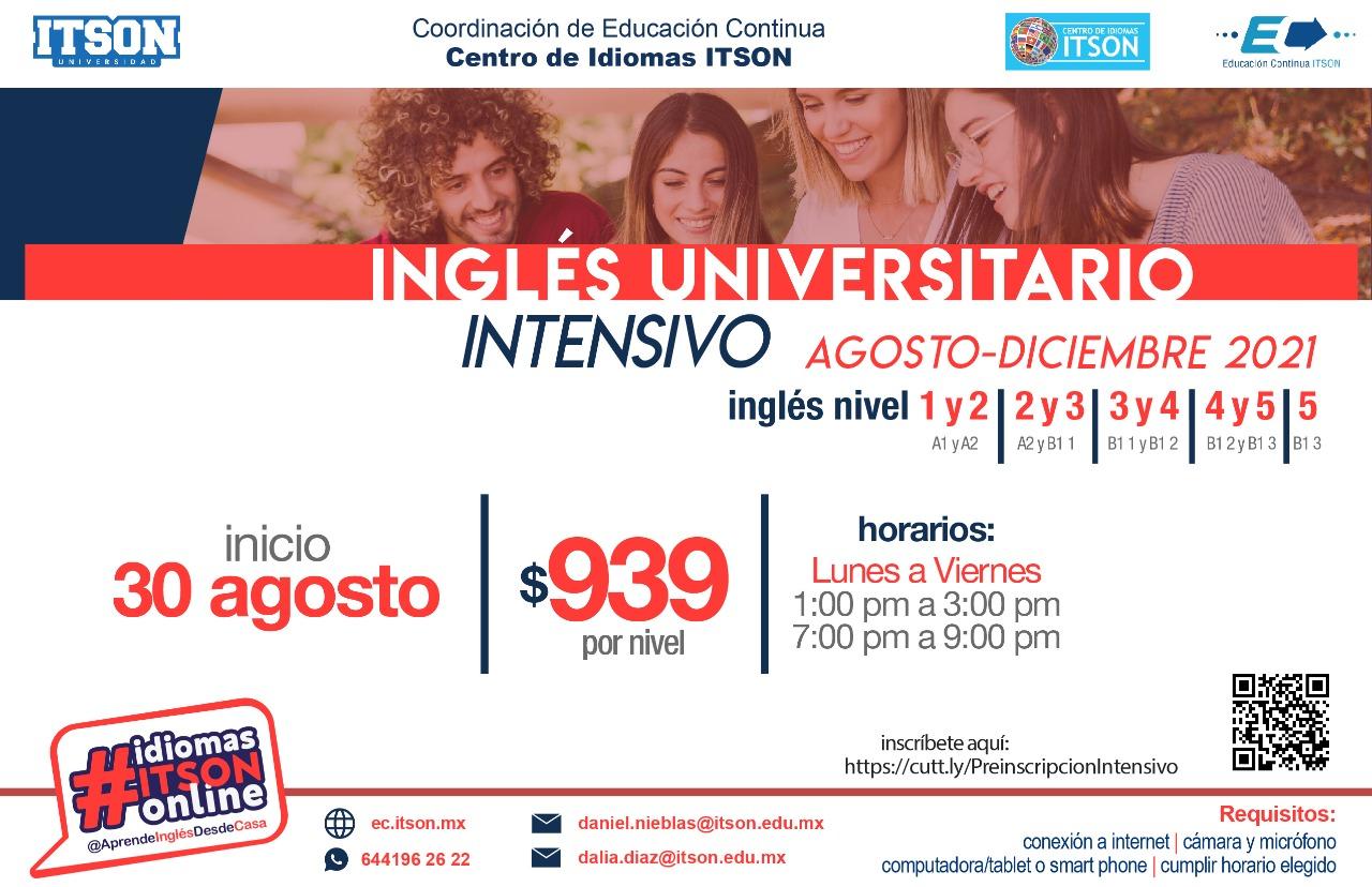 Inglés Intensivo 30 de agosto