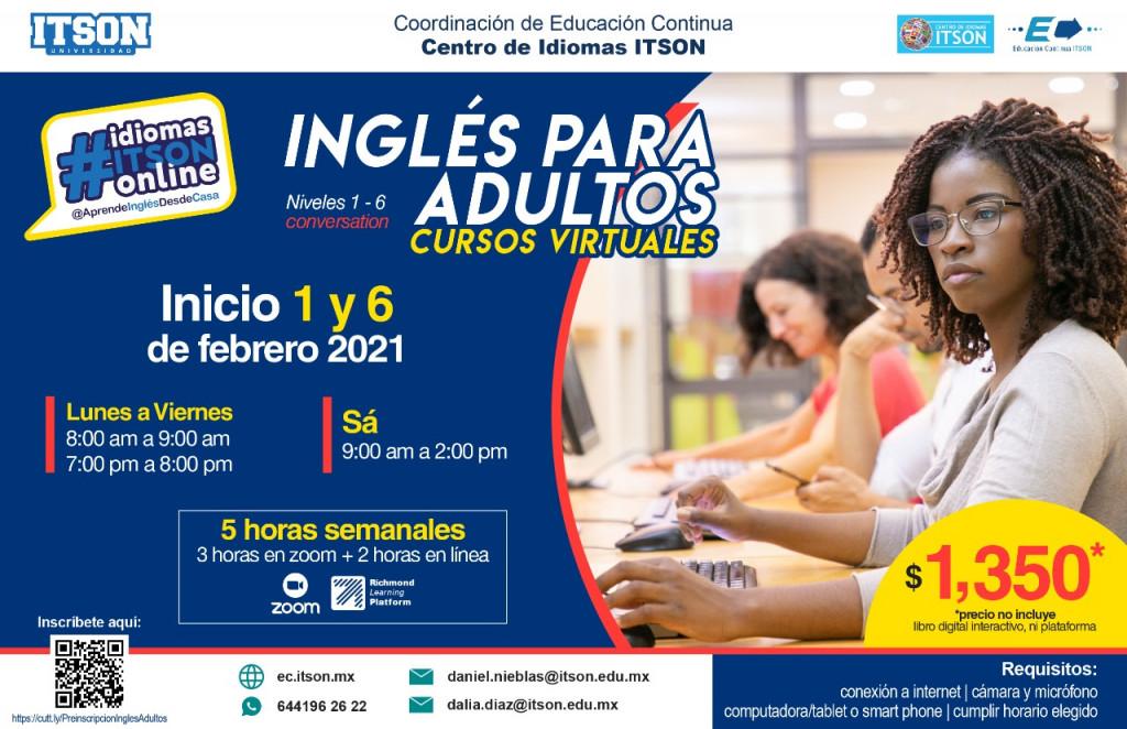 Inglés para adultos Feb. 1 y 6