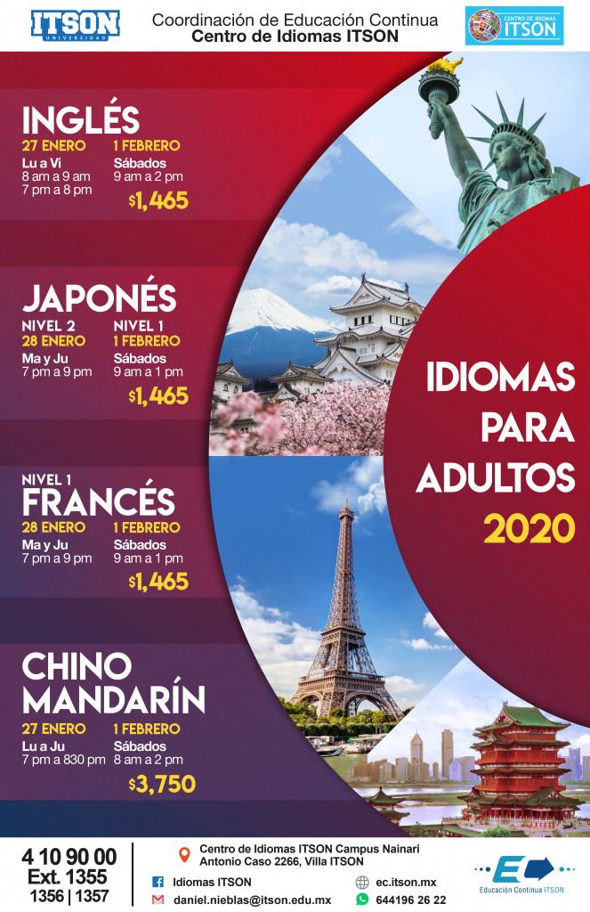 posters idiomas_cuarteto 2020