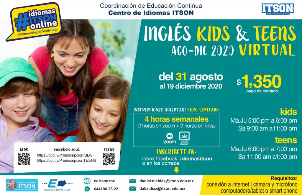 Inglés para adultos Agosto - Diciembre 2020