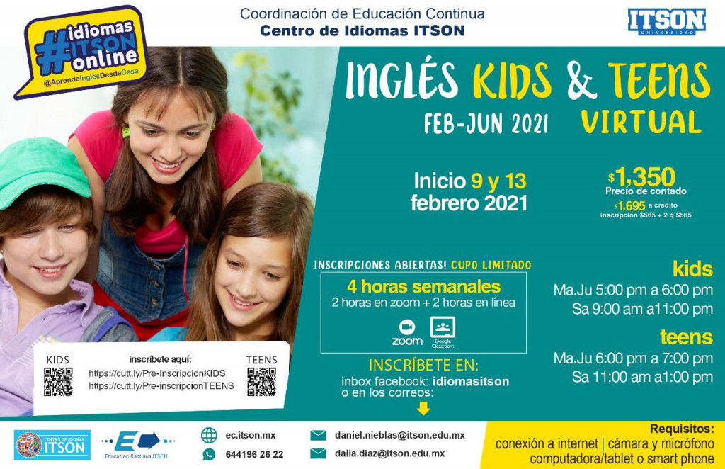 Inglés Kids y Teens Feb 2021