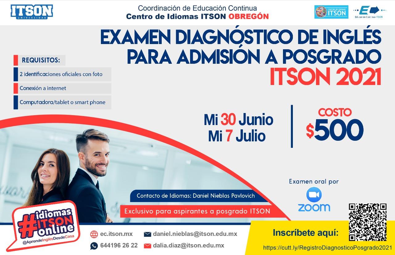 Examen Diagnóstico Posgrado 30 jun y 7 jul